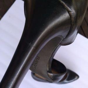 Franco Sarto Shoes - Franco Sarto Tito Black Leather Dress Pump Heels